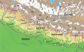 Geographical Map Maps Of Nepal Bizbilla Com