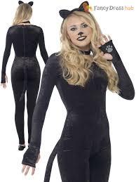 womens halloween cat costumes ladies cat glitter witch costume halloween fancy dress women