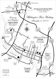 Maps Austin Formal Wedding Maps U2014 Custom Map Design By Snappymap