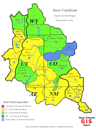 colorado snowpack map snowpack map of the colorado river basin swe as a of