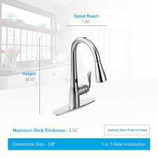 moen arbor motionsense touchless one handle high arc pulldown