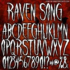 countdown to halloween u0026 inktober day 6 new font raven song