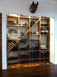 Cave A Vin Enterree Ronde Wine Rack With Interesting Angular Visual Element Winerack