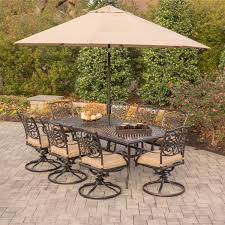 9 Piece Wicker Patio Dining Set - traditions 9 piece dining set in tan with eight swivel dining