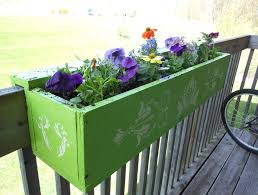 flower deck planter box plans decoration outdoor deck rail