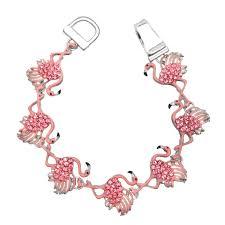 amazon com bigmouth inc emoji drink kooler kitchen u0026 dining pink flamingo rhinestone enamel magnetic closure silver tone
