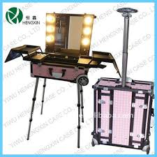 rolling makeup case with lighted mirror china makeup case light with mirror wholesale alibaba