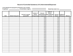 Controlled Substance Log Sheet Template From A Typical Record Of Controlled Substance Ii V Administered