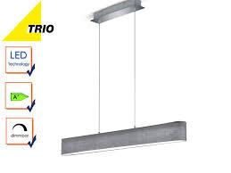 Esszimmerlampen Ebay Trio Stoffschirm Led Pendelleuchte Lugano Dimmbar Lampe Esstisch