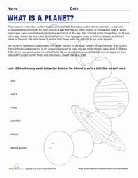 definition of a planet science worksheets worksheets and third