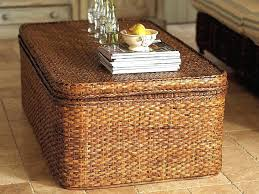 Outdoor Storage Coffee Table Outdoor Wicker Storage Wicker Storage Coffee Table Rectangle