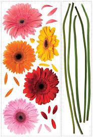 gerbera colors roommates rmk1279gm gerber daisies peel stick