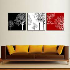 discount red black tree canvas art 2017 red black tree canvas