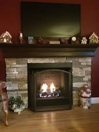 Gas Mantle Fireplace by Completely Installed Gas Fireplace With Custom Stone Mantle Top