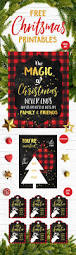 free 5 piece christmas printables set