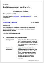 building contract small works