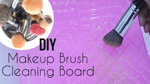 diy makeup brush cleaning board makeup brush cleaner