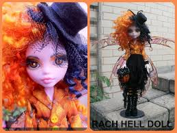 monster high custom repaint halloween fairy mh by rach hells