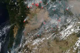 Fire Map Oregon by Pacific Northwest Wildfires Severe In Intensity Nasa
