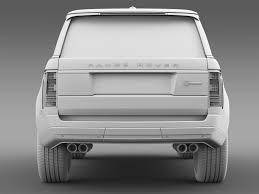 renault symbol 2016 black range rover svautobiography lwb l405 2016 3d model max obj 3ds fbx