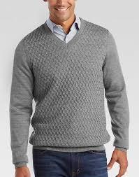 v neck sweater s joseph abboud light gray v neck sweater s sweaters s