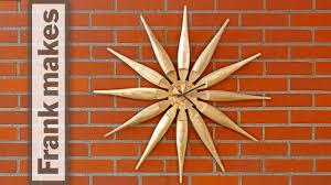 wood turned wall wood turned sun clock