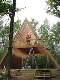 a frame house our a frame cabin