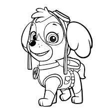 paw patrol chase coloring pages free coloring pages of chase pow