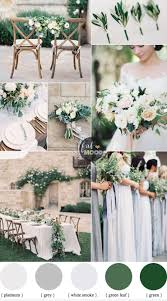 Green Color Green Wedding Colour Schemes Grey Platinum White Smoke