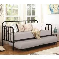 coaster daybeds by coaster metal daybed with trundle coaster