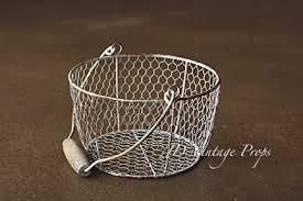 egg baskets rusted egg baskets sm 14 jd vintage props