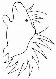 coloriage dun porcépic  Tête à modeler