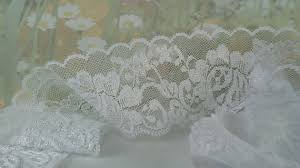 wide lace ribbon 3yds white elastic lace ribbon trim 2 inches wide lace for
