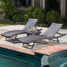 Wrought Iron Patio Chaise Lounge Belham Living Marcella Wide Wicker Chaise Lounge With Ottoman
