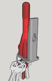 key holder wall 3d printed rocket key holder wall by wannesjanssens pinshape
