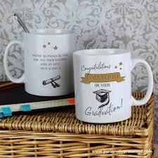 graduation mug personalised gold graduation mug personally presented