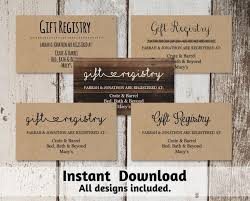 wedding registry cards printable wedding registry card template 2560447 weddbook