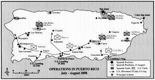 Pr Map U S Invasion Of Puerto Rico July 25 1898