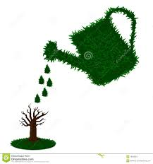 watering can clipart planting tree pencil and in color watering