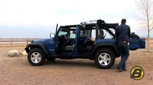 lowered 4 door jeep wrangler how quickly can you raise and lower the top on your wrangler jk