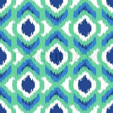 indonesian pattern ikat geometric seamless pattern turquoise color collection