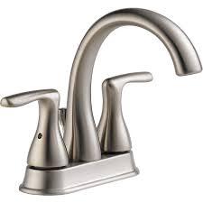 peerless kitchen faucets reviews shop peerless dulcet brushed nickel 2 handle 4 in centerset
