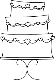 wedding cake outline best wedding cake clip 17132 clipartion