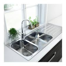 Inset Sinks Kitchen Stainless Steel by 2 Bowl Inset Sink With Drainer Boholmen Stainless Steel Sinks
