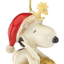 peanut s snoopy ornament list for santa lenox ornaments