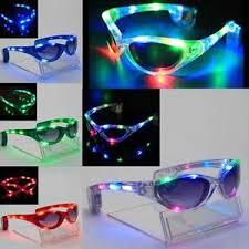party sunglasses with lights glow party rave light up led sunglasses glasses flashing ebay