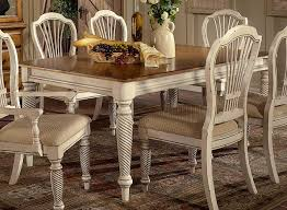 hillsdale wilshire rectangular dining table antique white hd