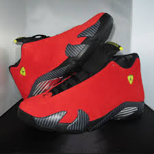 jordan ferrari black and yellow air jordan 14 retro ferrari shoe jordan chilling red black