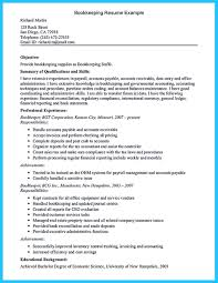 Bookkeeper Resume Samples by Bookkeeper Is A Position That Is Responsible For Some Basic Tasks