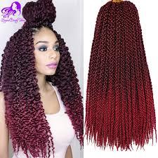 ombre crochet hairstyles 18inch 3d tm split cubic twist crochet braids hair extensions